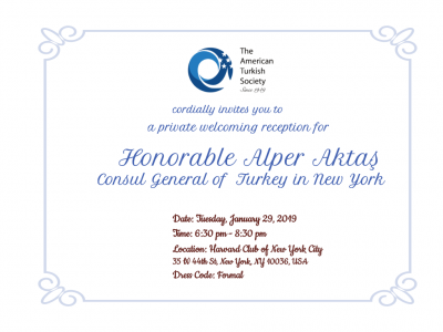 Welcoming Reception for Honorable Alper Aktas